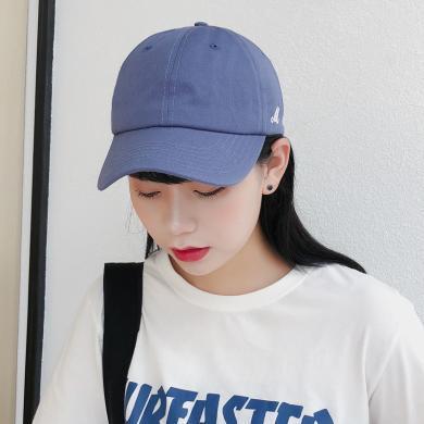 杨同学棒球帽女春秋新款韩版潮运动休闲蓝色帽子情侣简约ins个性鸭舌帽