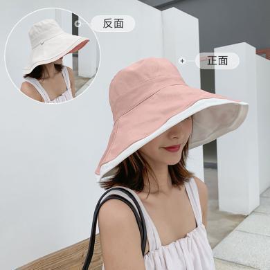 杨同学网红渔夫帽夏季薄款女日系百搭大帽檐遮阳帽防晒防紫外线太阳帽子