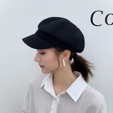楊同學貝雷帽女夏季薄款透氣百搭韓版潮英倫網紅可愛新款小香風八角帽子