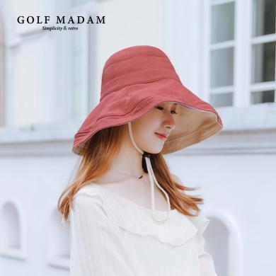 GOLF/高爾夫帽子女夏天防遮陽帽百搭漁夫帽出游可折疊防曬太陽帽 M903962
