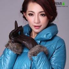 Formia芳美亚冬季山羊皮分指手套精细耐磨耐刮时尚保暖手套G6701102
