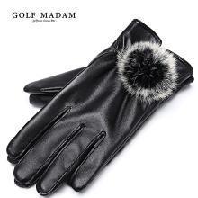 GOLF/高尔夫皮手套女士冬天骑行保暖防寒防滑骑车摩托车手套女 M8GF01835T