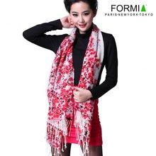 Formia芳美亚女士围巾羊毛围巾时尚印花中长款围巾披肩