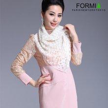 FORMIA芳美亚 女士围巾 新款蕾丝围巾 披肩 空调房披肩 围巾两用SL6800223