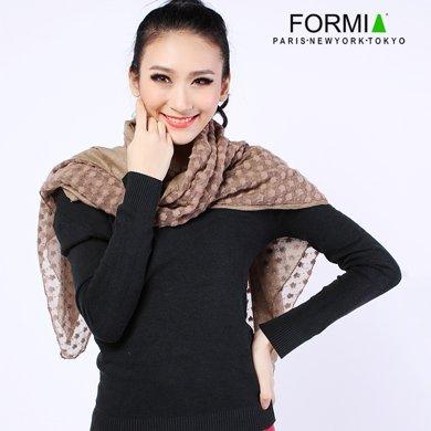 Formia芳美亞新款女士圍巾氣質純色百搭長款圍巾秋冬圍巾披肩圍巾