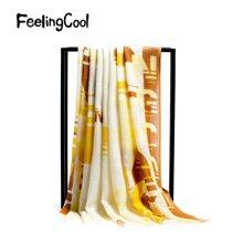 飞兰蔻 新品披肩女围巾披肩两用中国风时尚字母商场同款
