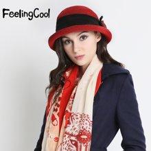飞兰蔻冬帽女士冬天帽子灯芯绒毛呢渔夫帽盆帽礼帽呢帽