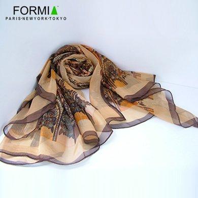 Formia芳美亞新款絲巾女圍巾薄時尚印花方巾SL6800203