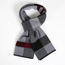 海謎璃(HMILY)歐美優質羊毛秋冬季男士圍巾時尚格子保暖圍脖禮盒包裝送禮之選 H9008