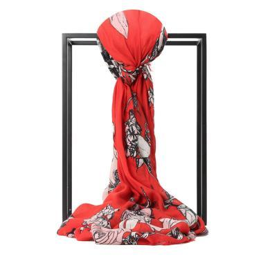 [支持购物卡]McQueen/麦昆 莫代尔玫瑰款围巾 138x138