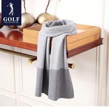 GOLF/高尔夫男士围巾冬季加厚格子韩版潮流时尚保暖长款围脖  M8GF02847T