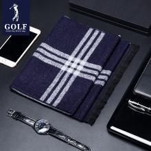 GOLF/高爾夫男士圍巾格子潮簡約時尚圍巾男韓國百搭年輕人圍脖  M8GF02861T