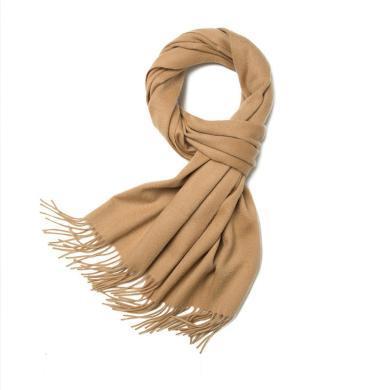 SMS纯色羊绒围巾秋冬季加厚保暖韩版男女通用小披肩羔羊毛小围脖