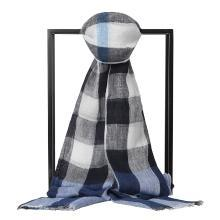 BURBERRY/博柏利 男女士格纹亚麻围巾 210x50 4042615