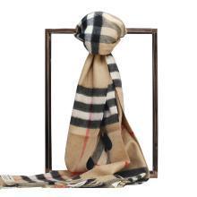 BURBERRY/博柏利 男女士心形图案格纹羊绒围巾 168x30 3993748