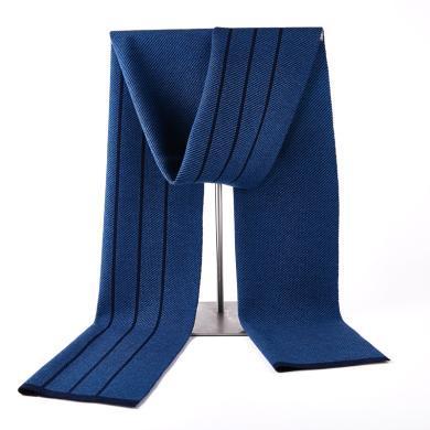 藍天龍羊毛圍巾男新款秋冬季高檔針織圍脖男生日禮物百搭商務潮(0741)