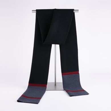 藍天龍羊毛圍巾男新款秋冬季高檔針織圍脖男生日禮物百搭商務潮(0733)