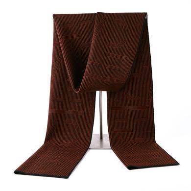 藍天龍羊毛圍巾男新款秋冬季高檔針織圍脖男生日禮物百搭商務潮(0743)