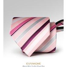 艾梵之家 渐变条纹领带8CM商务拉链领带结婚款婚庆领带男LY8004