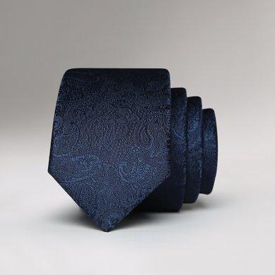 Evanhome/艾梵之家 韓版領帶男窄版商務5CM小領帶男英倫藏青色黑色古典花紋L5105
