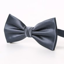 Evanhome/艾梵之家 新款男士韩版领结男双层时尚英伦男士领结深灰色LJ004