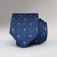 Evanhome/艾梵之家 2017新款男士韩版小领带藏蓝色提花百搭6CM时尚窄领带潮L6037
