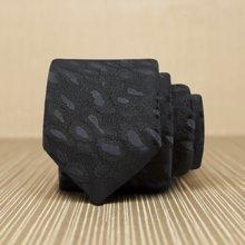 Evanhome/艾梵之家 新款韩版窄领带 5cm男士时尚细领带 纯黑色个性豹纹L5068