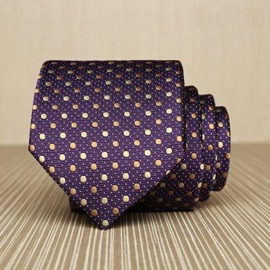 Evanhome/艾梵之家 春季新款领带男士商务正装领带红底黄点礼盒装L7128