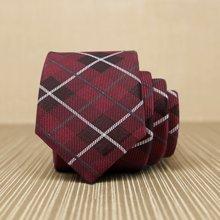 Evanhome/艾梵之家 纳米防水韩版窄领带 商务休闲5cm细小领带红色格形L5018