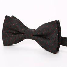 Evanhome/艾梵之家 韩版双层英伦领结男正装结婚 黑底红色点点蝴蝶结LJ043