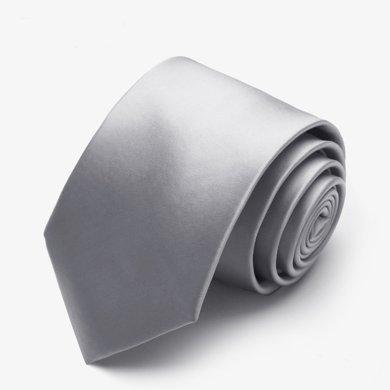 Evanhome/艾梵之家 商務領帶男 淺灰色休閑百搭 領帶7cm商務正裝 銀灰L7002