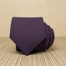 Evanhome/艾梵之家 新款纳米防水领带 男OL优雅休闲领带 深紫色小点点L7064