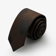 Evanhome/艾梵之家 男士韩版窄款领带5cm 时尚休闲结婚新郎百搭咖啡灰色领带L5110