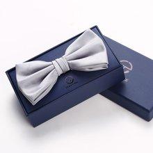 Evanhome/艾梵之家 男士领结双层时尚英伦商务正装 银灰色蝴蝶结潮流LJ002