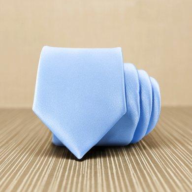 Evanhome/艾梵之家 時尚英倫7cm純色領帶 商務正裝領帶休閑百搭淺藍色 L7010