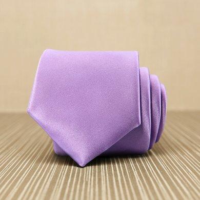 Evanhome/艾梵之家 品牌纳米领带 英伦时尚7厘米商务正装领带 纯浅紫色L7022
