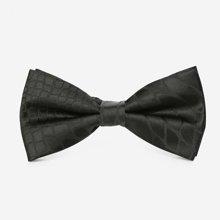 Evanhome/艾梵之家 新款商务领结男双层时尚英伦男士领结黑色蝶纹蝴蝶结LJ021