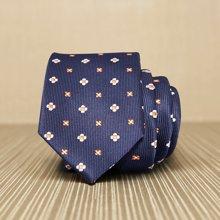 Evanhome/艾梵之家 新款男士商务领带 韩版休闲领带时尚藏青底太阳花纹L6031