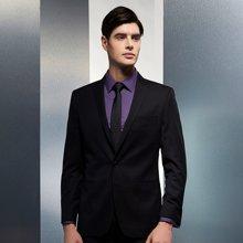 Evanhome/艾梵之家 納米防水韓版窄領帶 男士窄領帶休閑百搭黑色暗格子L5008