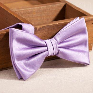 Evanhome/艾梵之家 新款时尚男士商务领结 紫色简约百搭三折韩版领结LJ125