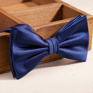 Evanhome/艾梵之家 新款男士韓版領結 雙層時尚英倫領結男藍色蝴蝶結LJ131