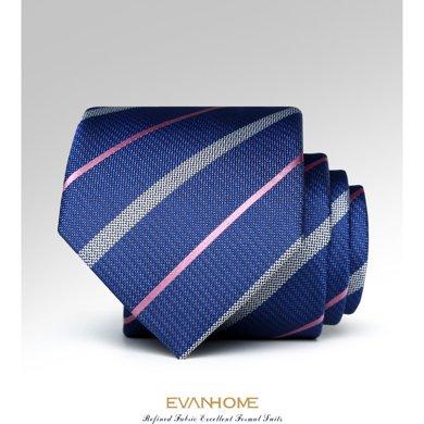 Evanhome/艾梵之家 新款简约百搭条纹领带 男士商务正装领带 L7132