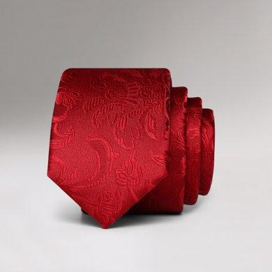 Evanhome/艾梵之家 新款5CM韓版窄領帶簡約百搭紅色花紋男士正裝領帶L5140