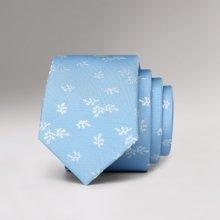 Evanhome/艾梵之家 纳米防水时尚百搭5CM韩版窄领带雅致蓝色叶子款男士领带L5141