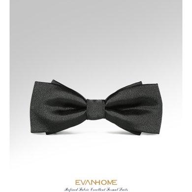 艾梵之家 領結商務正裝搭配結婚時尚風桑蠶絲領結黑色LJ801