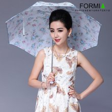 Formia芳美亚女式晴雨伞钢架耐用太阳伞碎花淑女雨伞BL6801001