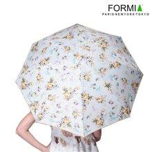 Formia芳美亞女式晴雨傘鋼架耐用太陽傘碎花淑女雨傘BL6801001 黃色
