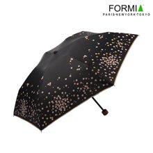 Formia芳美亞時尚日式清新晴雨傘直手柄折疊傘防曬防紫外線遮陽傘  BL6810601黑橙色