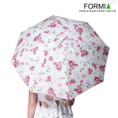 Formia芳美亞女式晴雨傘鋼架耐用太陽傘碎花淑女雨傘BL6801001 粉色