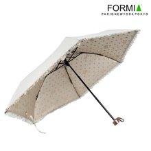 Formia芳美亚时尚花边阳伞洋伞防紫外线防晒色胶UV遮阳伞 白色